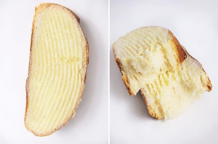 Rebanada de Mantequilla (or simply rebanada) or Lengua pan dulce