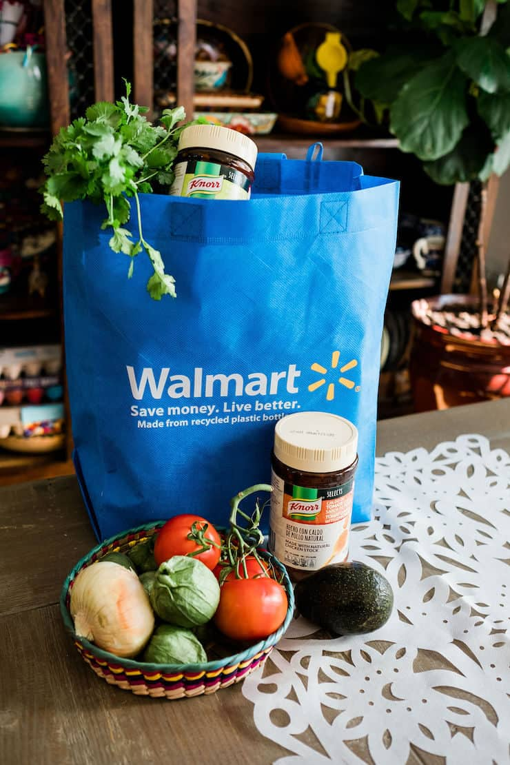 Knorr and other produce bought in Walmart