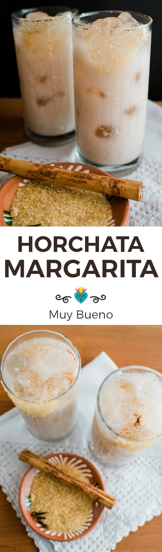 Horchata Magarita vertical collage with text overlay