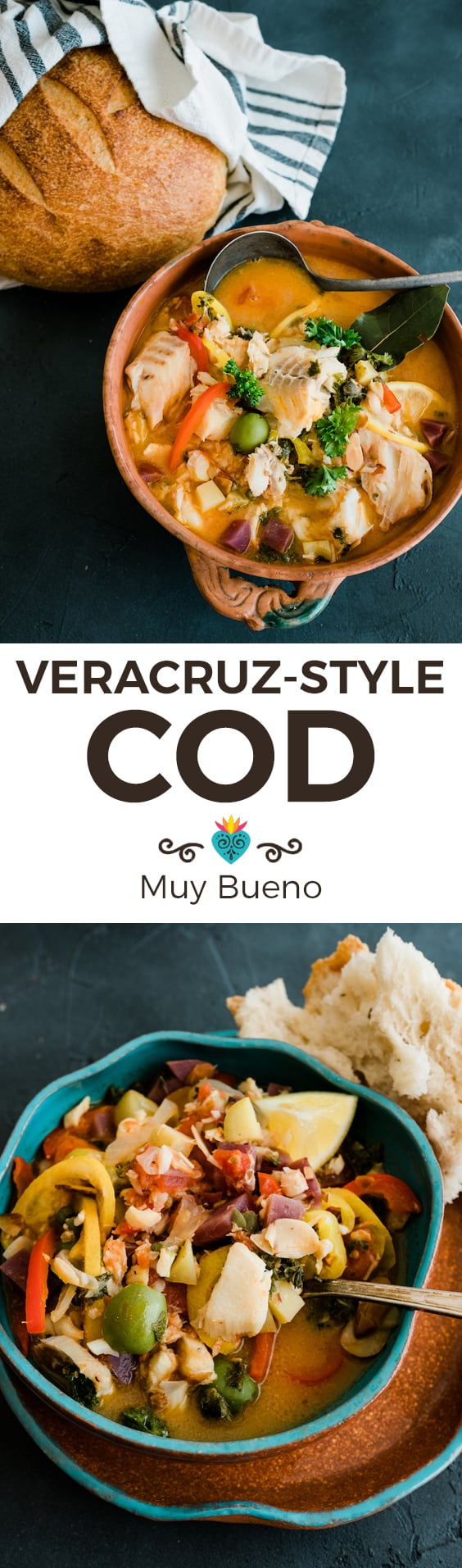 Veracruz-Style Cod super long collage with text overlay