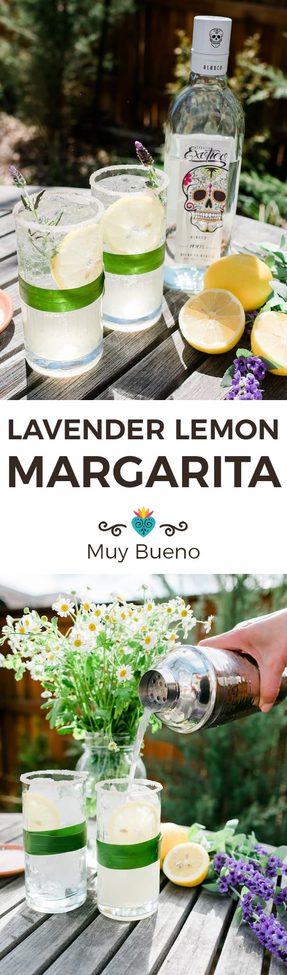 Lavender Lemon Margarita super long collage with text overlay