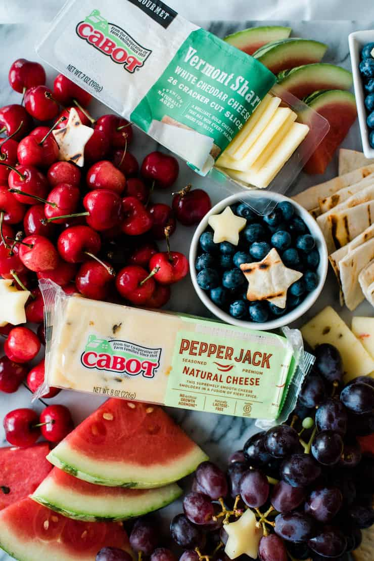 Mouthwatering Cabot Patriotic Cheese Platter