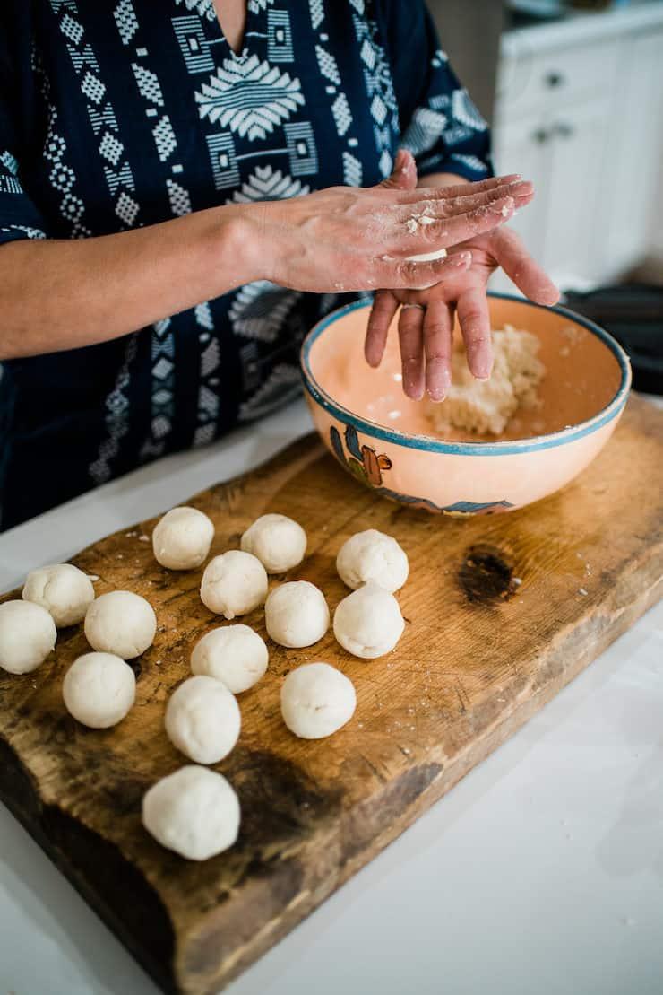 Masa Harina - sopes dough is almost ready