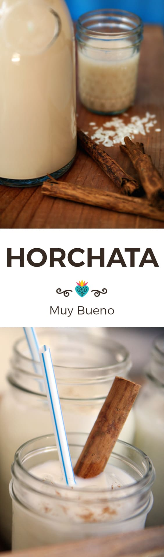 Horchata collage with text overlay