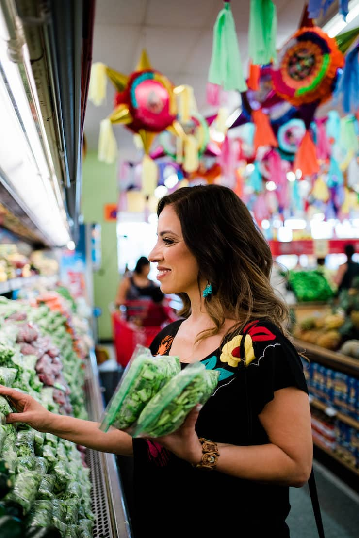 Shopping for produce in a Mexican store