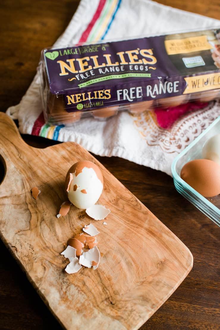 free range hardboiled eggs