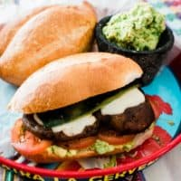 Grilled Portobello Mushroom Torta with Roasted Poblano