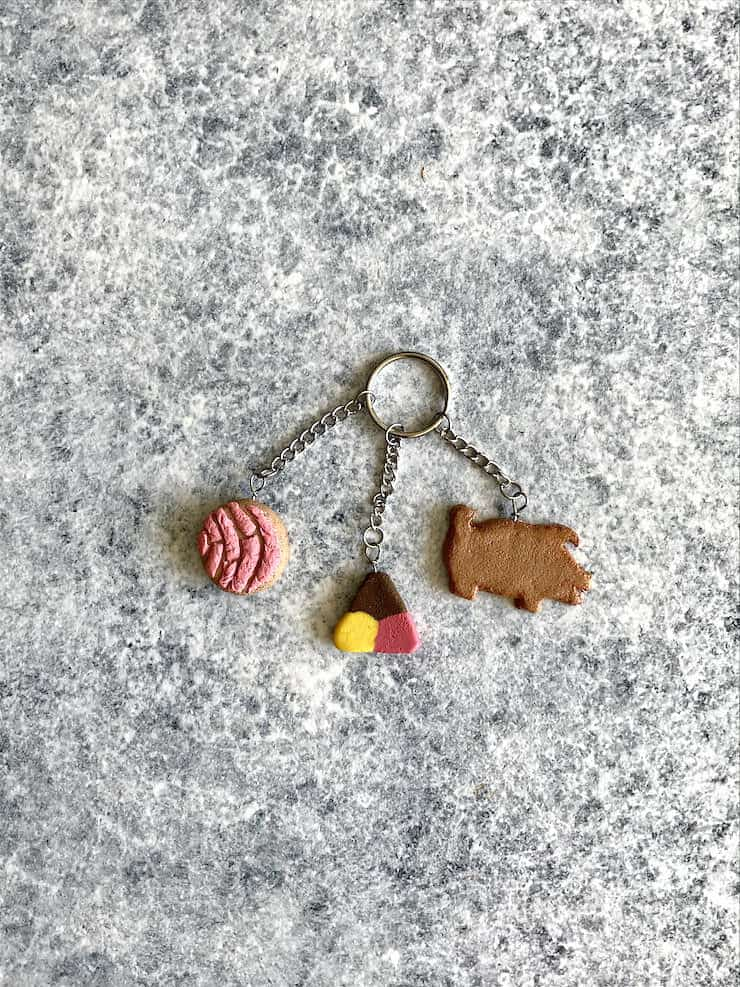 key chain Mexican sweet bread