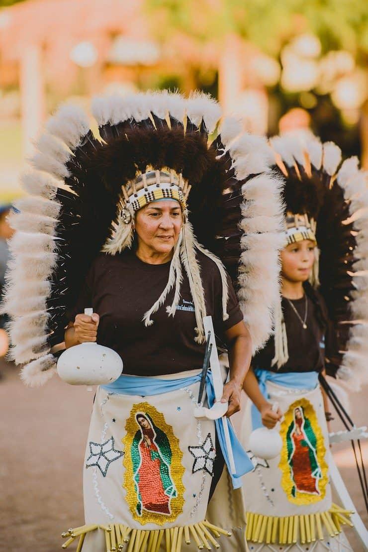 Matachines dancers in El Paso
