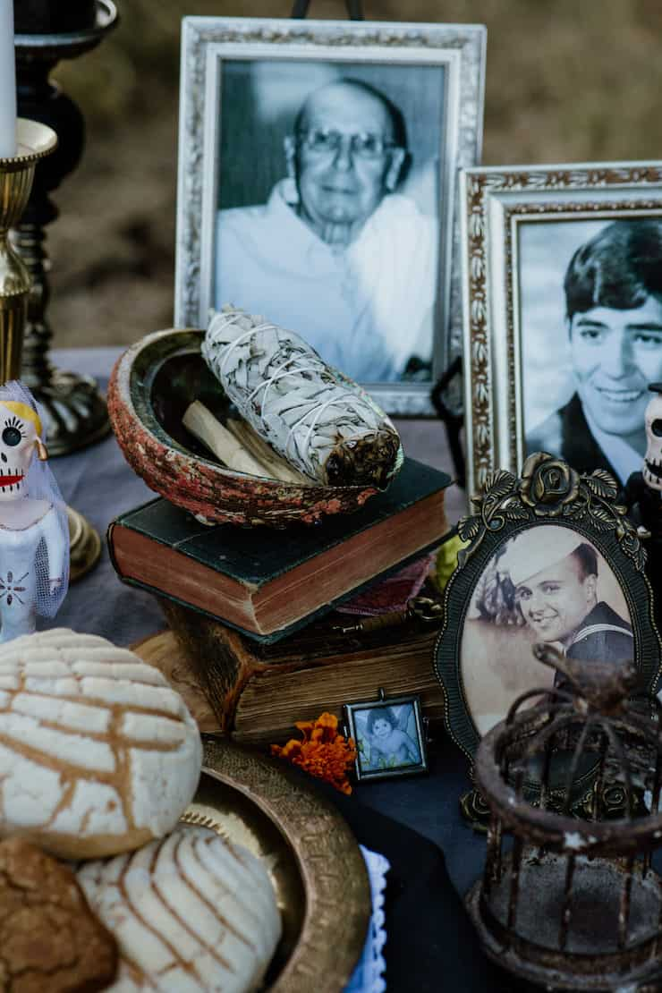 food and decor for day of the dead photographs