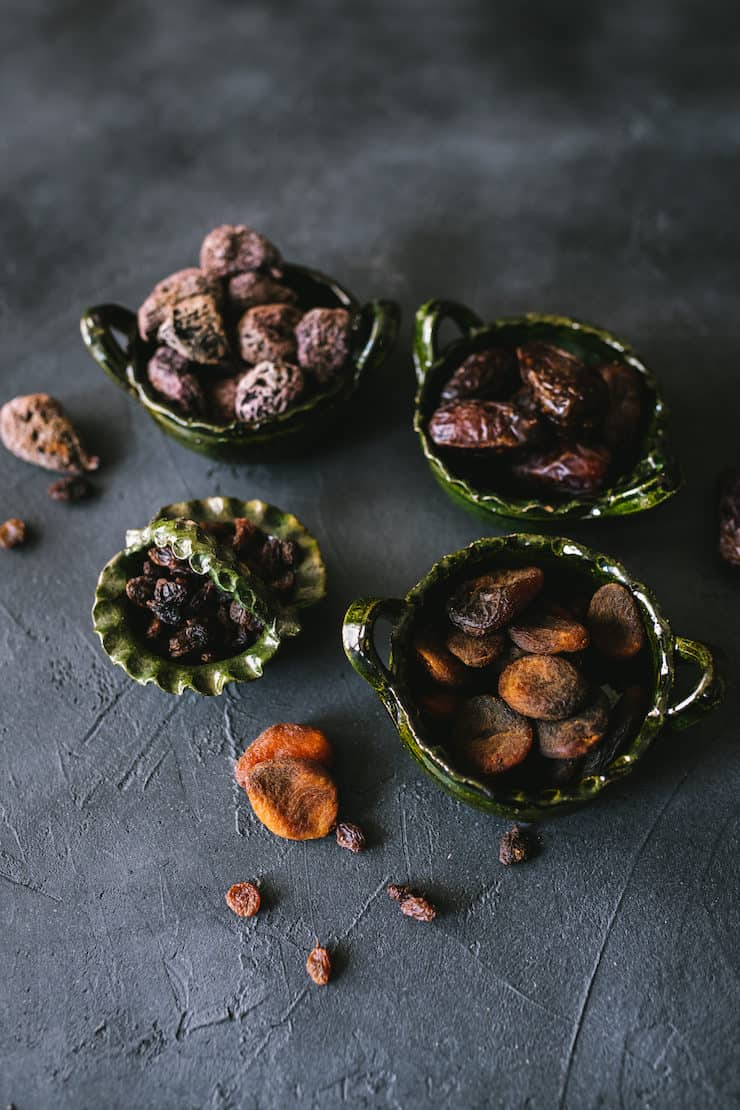 dried fruits raisins apricots plums figs dates to garish Slow Cooker Oatmeal