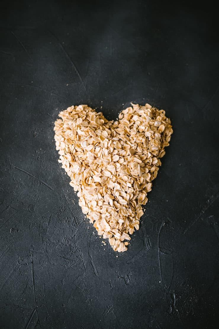 heart shaped oats to make Slow Cooker Oatmeal