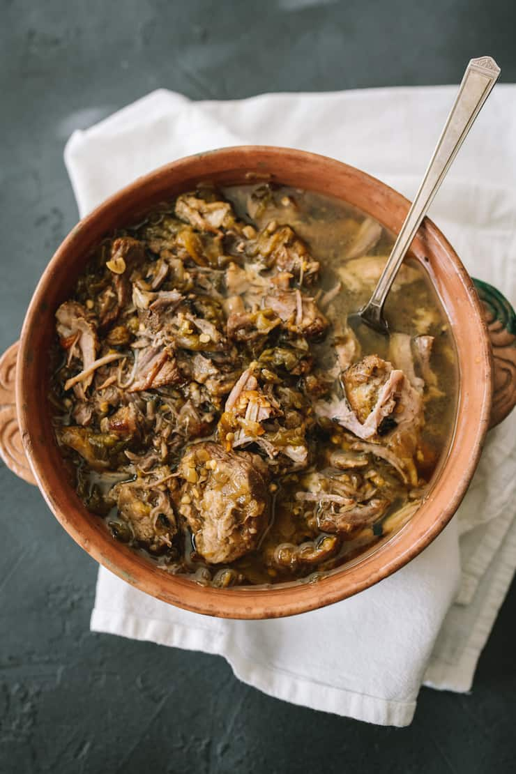 Instant Pot Pork and Roasted Green Chile