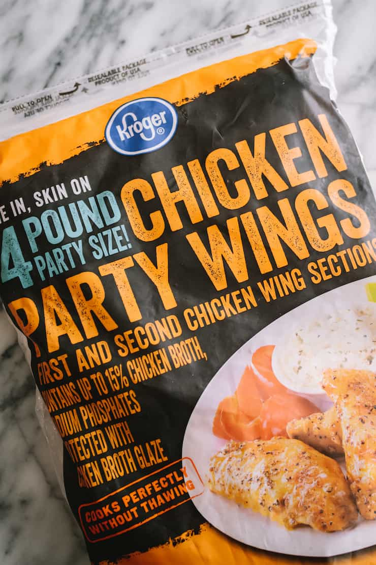 frozen wings to make Baked Chicken Wings with Mild and Spicy Sauce