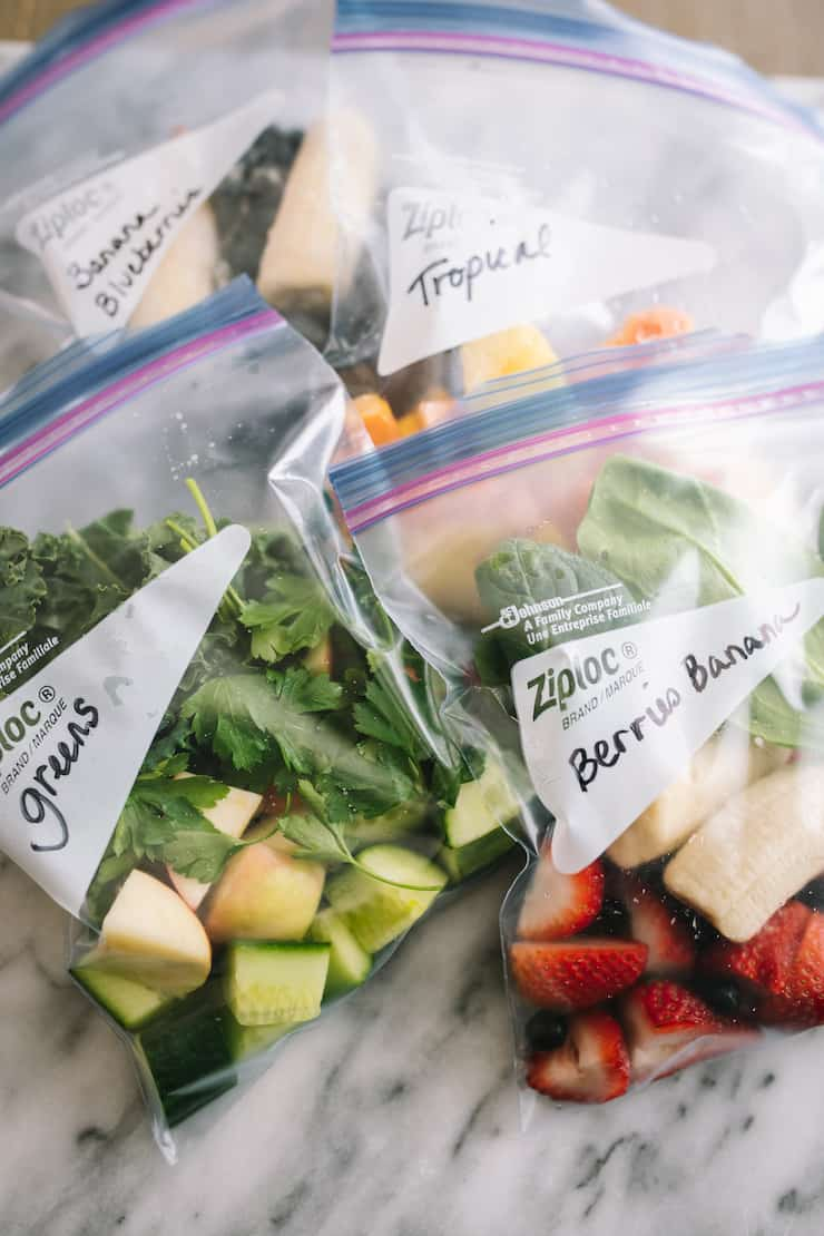 Smoothie Freezer Pack and 4 Recipes