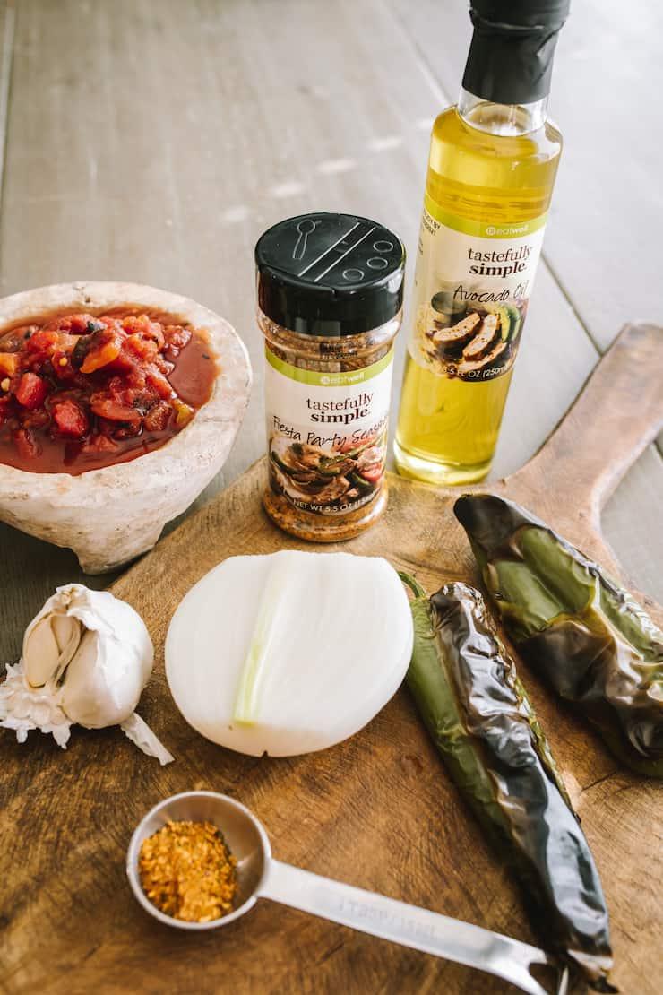 ingredients to make crispy chicken tacos