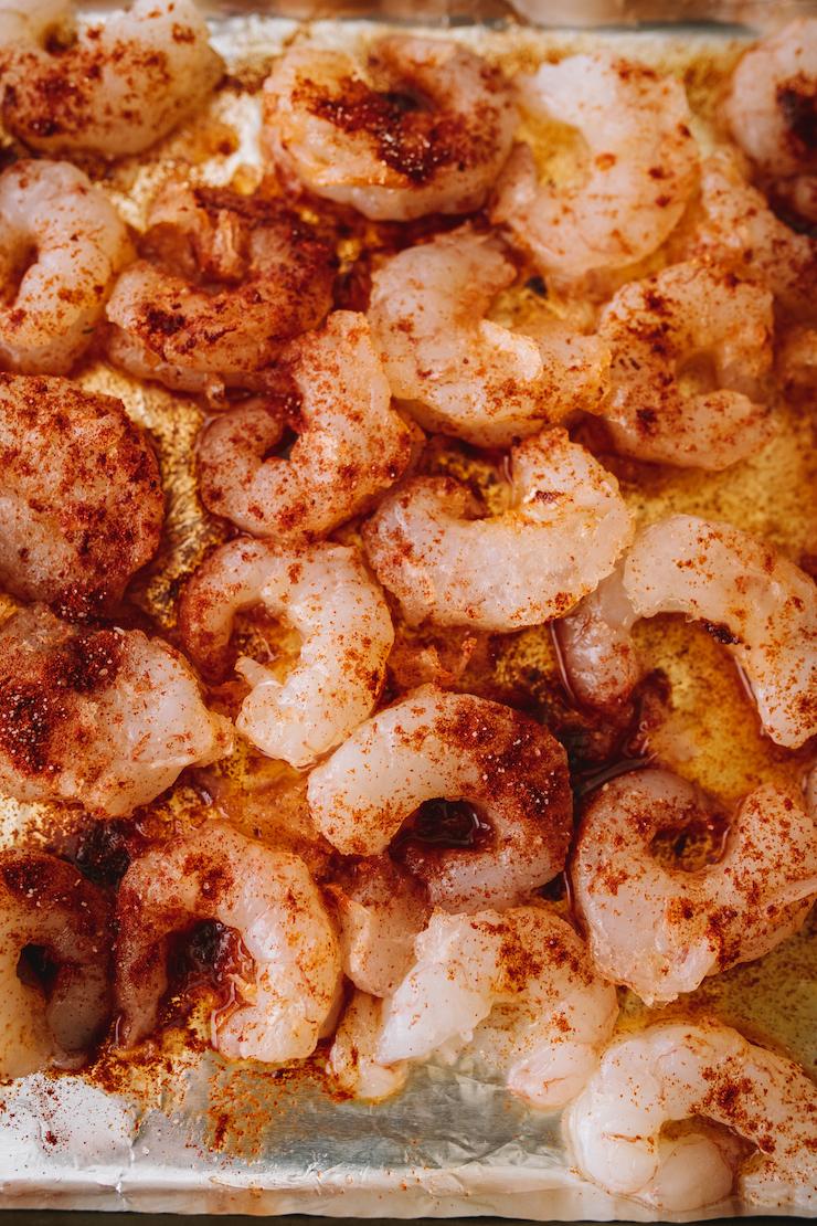seasoned shrimp for Camarones al Mojo de Ajo (Mexican-Style Garlic Shrimp)