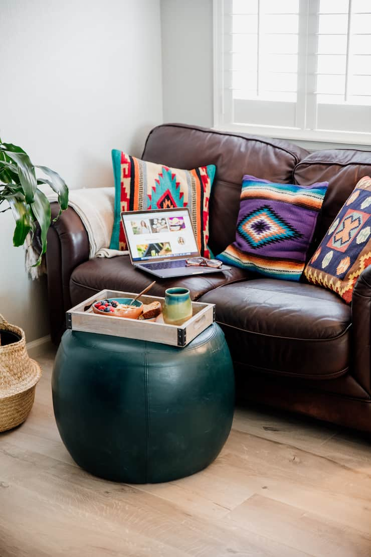 Mexican pattern textile pillows