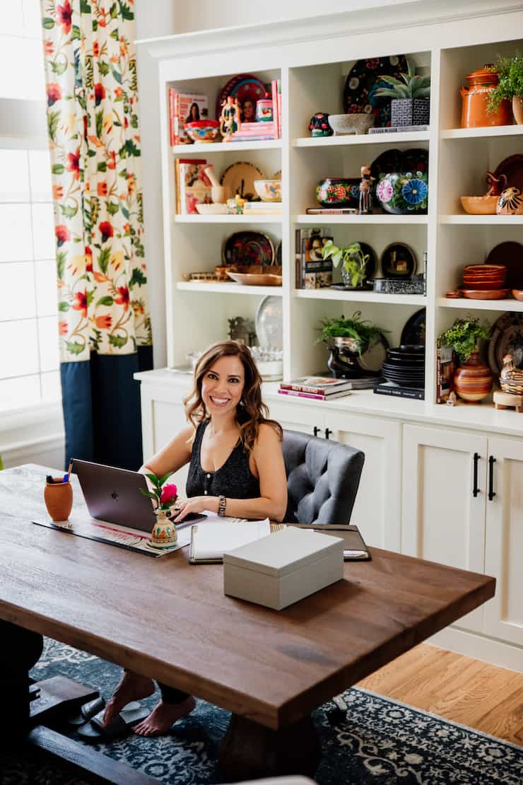Double-Duty Office Studio and Dining Room Yvette Marquez Latina food blogger Colorado
