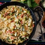 Calabacitas con Elote or Zucchini with Corn ready and served