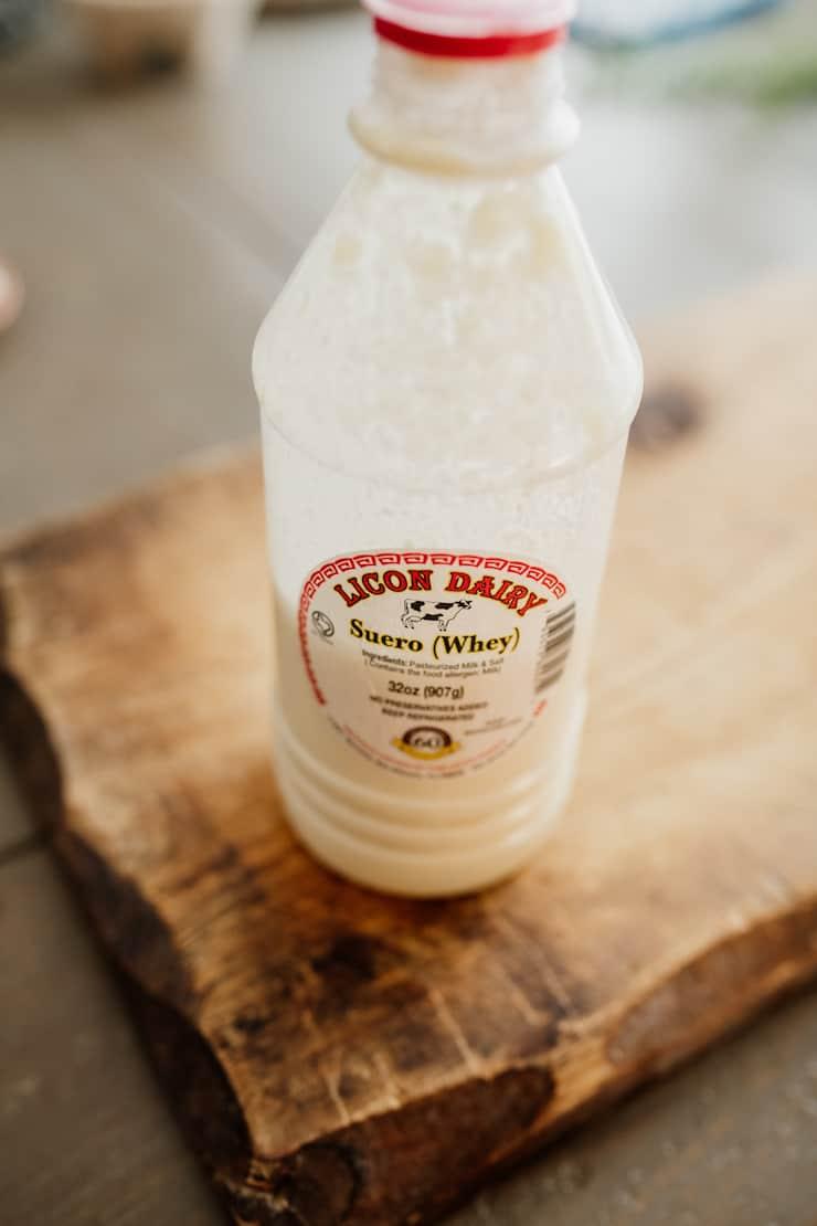 plastic of bottle suero (whey) from Lincon Dairy in El Paso San Eli Texas