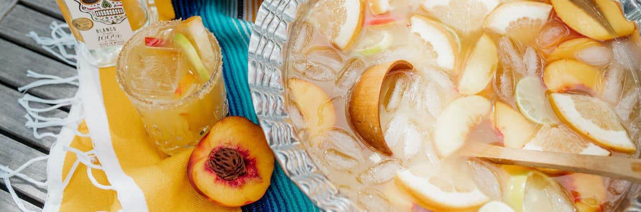 peach paloma in a punch bowl