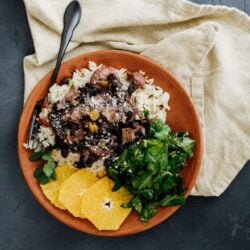 plate of Brazilian feijoada