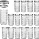 Mason Jars 12 OZ, VERONES Canning Jars Jelly Jars