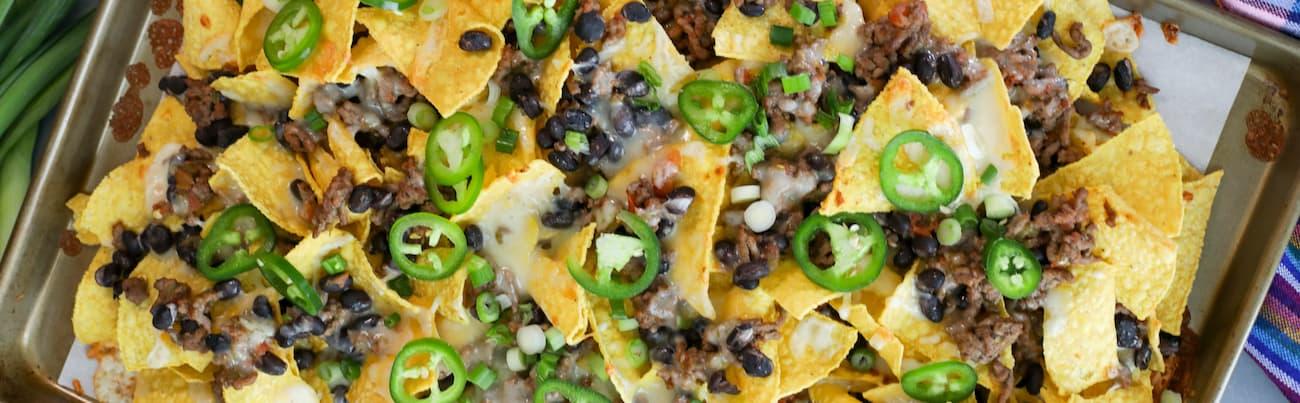 sheet pan classic nachos