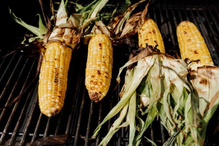 corn on a bbq grate
