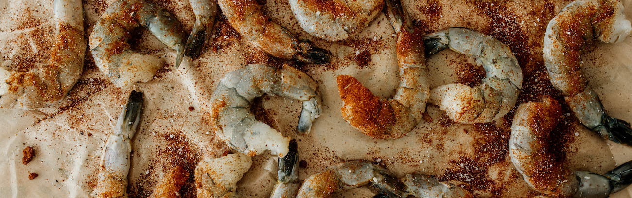 shrimp seasoned with spices