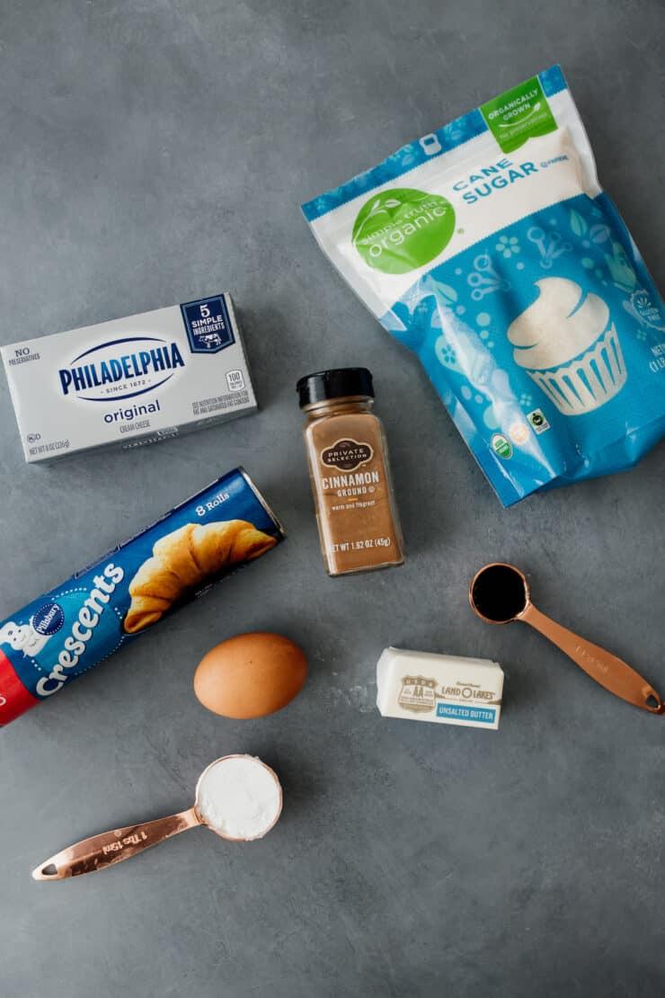 ingredients to make Sopapilla Churro Cheesecake Bars