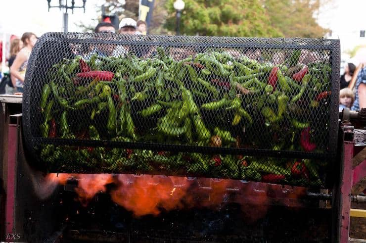 Roaster filled with Green Chile from Pueblo